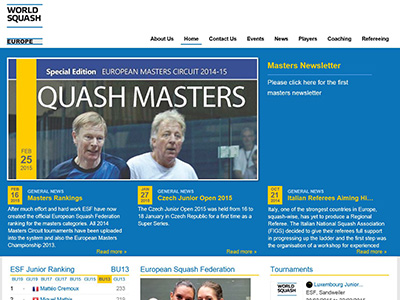 <strong> European Squash Federation</strong>