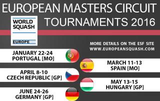 Squash European Masters Circuit 2016