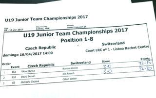 juniorský squashový tým