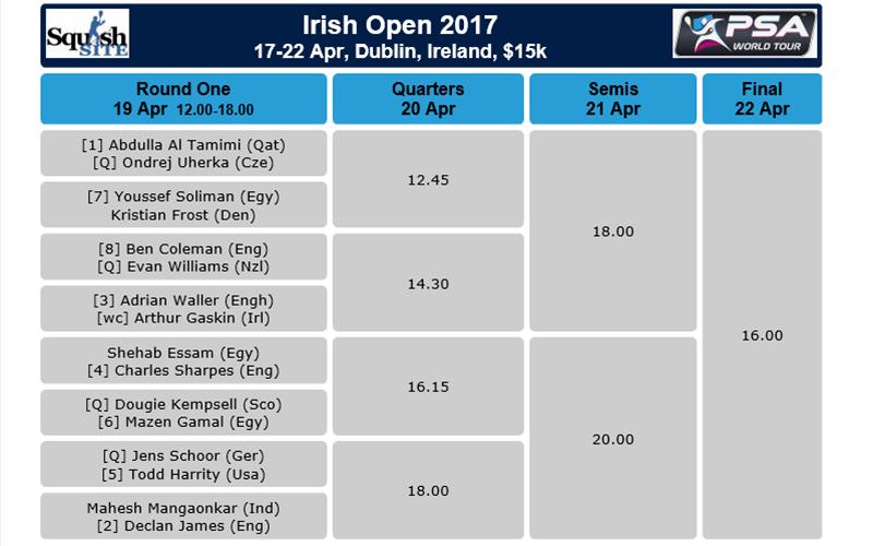 PSA Gillenmarkets Irish Squash Open 2017